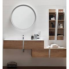 Ardeco Wr 04 Bathroom composition l 190 complete with sink with mirror and wall units drawers Wector