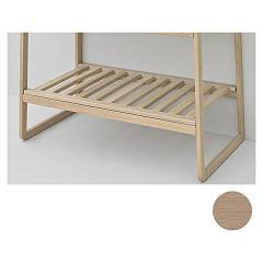 Artceram Acm021 Dogato shelf for sling frame - white oak