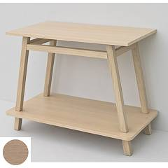 Artceram Acm012 Wooden frame for naked washbasin - white oak Trapezio