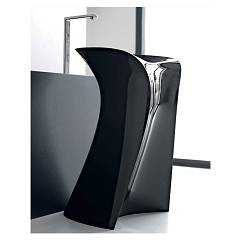 Artceram Osl012 03-00 Lavabo in support cm. 57 x 58 h 88 - black Miss