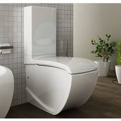 Artceram Hiv003 01-00 - Hi Line Wc monobloc cm. 38 x 68 - in white ceramic