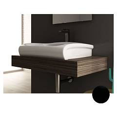 Artceram Hil002 03-00 Wall-mounted sink - cm support 65 x 50 - black ceramics Hi Line