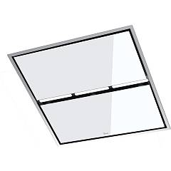 Baraldi Jet Suction ceiling hood cm. 90 x 90 white glass - remote engine Design