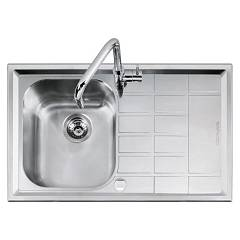 Barazza 1llv90/1d Sink inox built 86x50 1 tank sx B_level