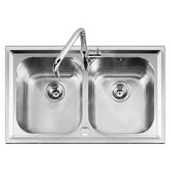 Barazza 1llv90/2 Sink inox built 86x50 2 posod B_level