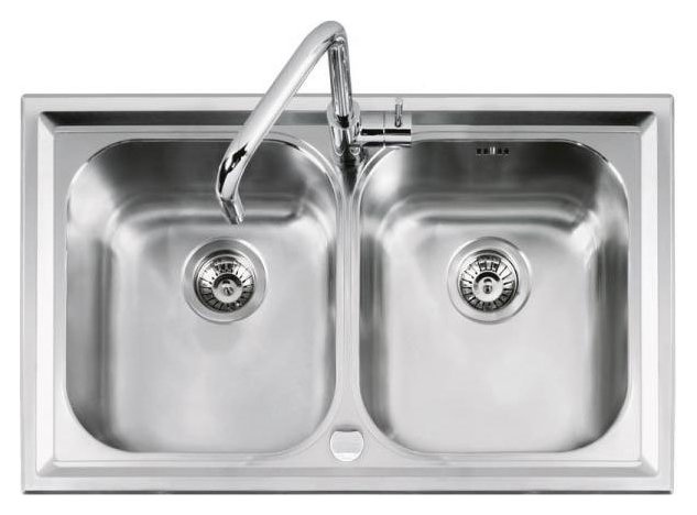 Fotografije 1: Barazza 1LLV90/2 B_level Sink inox built 86x50 2 posod