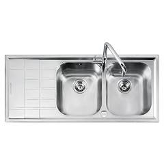 Barazza 1llv120/2s Stainless steel recessed sink 116x50 2 bathtubs B_level