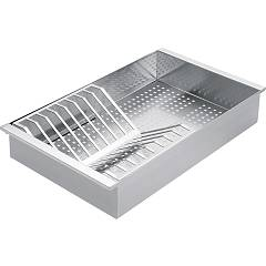 Barazza 1vsof Perforated tray with stainless steel plate rack