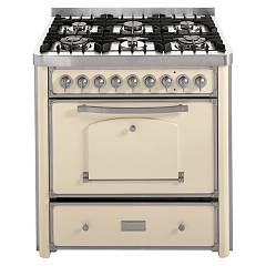 Barazza 1b90m6avi Kitchen cm. 90 ivory stainless steel 4 gas and 2 triple crown Collezione Classica