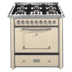 Barazza 1b90m6avim Kitchen cm. 90 ivory stainless steel 4 gas and 2 triple crown with handle Collezione Classica