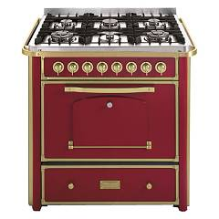 Barazza 1b90m6boom Kitchen cm. 90 bordeaux finishes brass 4 gas and 2 triple crown with handle Collezione Classica