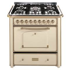 Barazza 1b90m5avom Kitchen cm. 90 ivory finishes brass 3 gas_1 triple corona_pesciera with handle Collezione Classica