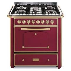 Barazza 1b90m5boom Kitchen cm. 90 bordeaux finishes brass 3 gas_1 triple corona_pesciera with handle Collezione Classica