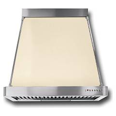Barazza 1kp90av Suction hood cm. 90 avorio finishings inox design wall Collezione Classica