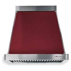 Barazza 1kp90bo Suction hood cm. 90 bordeaux finishes inox design wall Collezione Classica