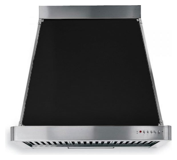 Fotografije 1: Barazza 1KP90AN Collezione Classica Hood cm. 90 stainless steel charcoal design wall