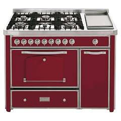 Barazza 1b120boo Kuhinja cm. 123 bordeaux brass finish 4 gas_2 corona_fry triple top Collezione Classica