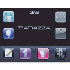 Barazza - multifunction oven VELVET 1FVLTBS - touch screen display