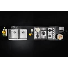 Barazza - LAB 1PLB5 gas cooktop - set - view from above