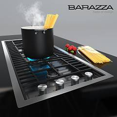 Barazza - Table de cuisson à gaz LAB 1PLB3T - set