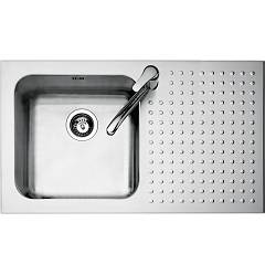 Barazza 1is9060/1d Stainless steel built-in sink 86 x 50 - 1 left basin lowered edge right draining board Select