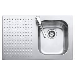 Barazza 1is8060/1s Stainless steel recessed sink 79 x 50 - 1 rh towel lower edged drawn lock Select