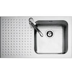 Barazza 1is9060/1s Stainless steel built-in sink cm. 86 x 50 - 1 right basin lowered edge left draining board Select