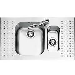 Barazza 1is9060 Stainless steel built-in sink 86 x 50 - 1 bowl and half lowered edge right and left drainer Select