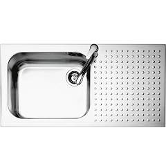 Barazza 1is10060/1d Stainless steel built-in sink 100 x 50 - 1 left basin lowered edge right draining board Select