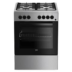 sale Beko Fse 62110 Dx The Kitchen From The Docking 60 Cm - Stainless Steel 4 Burner + 1 Electric Oven