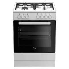 sale Beko Fse 62110 Dw The Kitchen From The Docking 60 Cm - White 4 Burner + 1 Electric Oven