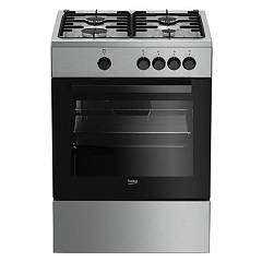 sale Beko Fsg 62000 Dx Kitchen By Approach 60 - Stainless Steel 4 + 1 Burner Gas Oven
