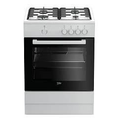 sale Beko Fsg 62000 Dw The Kitchen From The Docking 60 Cm - White 4 + 1 Burner Gas Oven