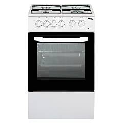 sale Beko Css 4214 Fw The Kitchen From The Docking 50 Cm - White 4 Burner + 1 Electric Oven