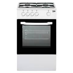 sale Beko Csg 42000 Dw The Kitchen From The Docking 50 Cm - White 4 + 1 Burner Gas Oven