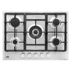 Beko Himw 75225 Sx Gas cooking top cm. 70 - inox cast iron grids