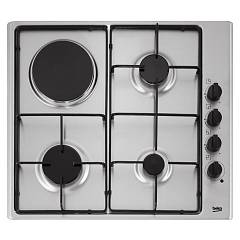 sale Beko Hizm 64120 Sx Hob Mixed Cm. 60 - Stainless Steel With 1 Electric Plate