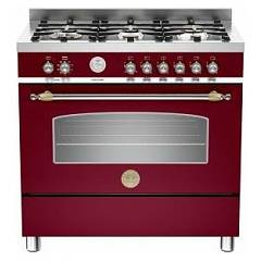 sale Kitchen Cm. 90 Wine Bertazzoni Serie Heritage Her 90 5mfes Vi E 5 Hob - Electric Oven - Warming