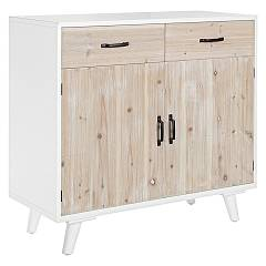 Bizzotto 0745693 Wooden sideboard with 2 doors and 2 drawers Norsborg