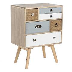 Bizzotto 0746093 - Letizia Chest of drawers-wood-6 drawers