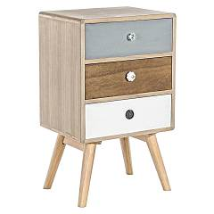 Bizzotto 0746092 Wooden bedside with 3 drawers Letizia