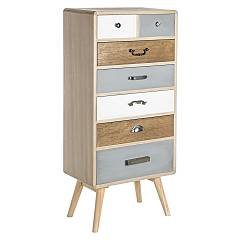Bizzotto 0746095 - Letizia Chest of drawers in wood with 7 drawers