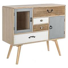 sale Sideboard In Wood With 2 Doors And 4 Drawers 0746098 - Letizia