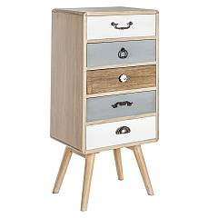 Bizzotto 0746094 - Letizia L Chest of drawers in wood 5 drawers