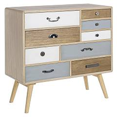 Bizzotto 0746097 - Letizia Chest of drawers-wood-9 drawers