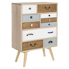 Bizzotto 0746096 - Letizia Chest of drawers in wood 10 drawers