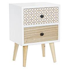 sale Bizzotto 0745281 - Vicky Wooden Bedside Table 2 Drawers