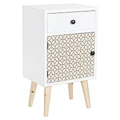 sale Bizzotto 0745282 - Vicky Cabinet In Wood With 1 Drawer And 1 Door