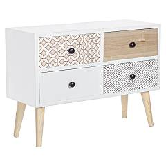 Bizzotto 0745284 - Vicky Chest of drawers wood 4 drawer