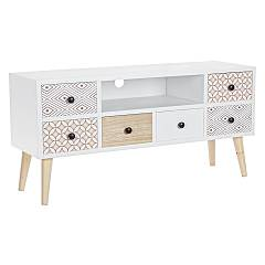 sale Bizzotto 0745285 - Vicky The Tv Port In Wood With 6 Drawers
